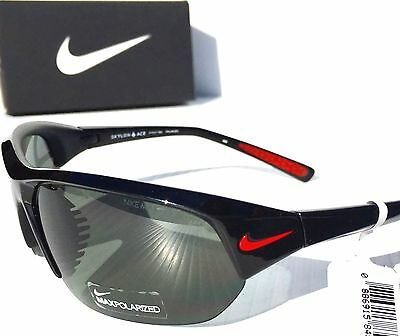 New  Nike Polarized Gray Lens Skylon Ace P Black Frame Sunglass Evo527 006