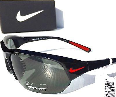 New  Nike Polarized Gray Lens Skylon Ace P Black Frame Sunglass Evo527 006