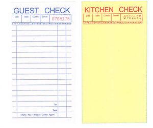 Guest Check, 2-part Carbonless, 50 Books, 2500 Checks