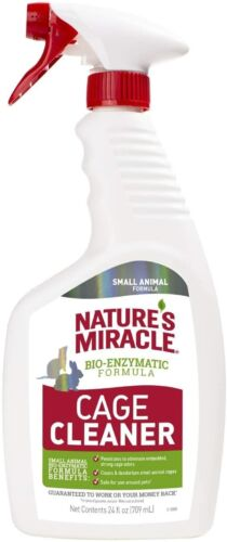 Natures Miracle Cage Cleaner, 24 oz. Small Animal Formula, Cleans and Deodorizes