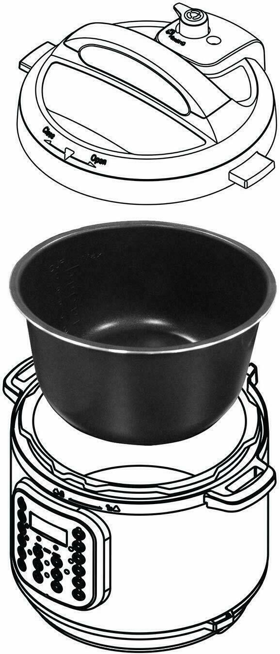 Instant Pot Ceramic Non-Stick Interior Coated Inner Cooking