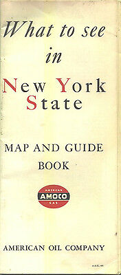 1941 Amoco New York Vintage Road Map and Guidebook