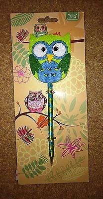 Children's Novelty Felt Owl Biro Pen CGB Giftware Original Packaging