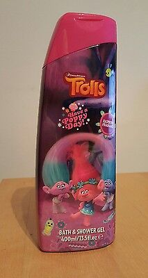 TROLLS bath and shower gel 400 ml 13.5fl.oz RASPBERRY fragnance kids fun time