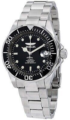 Invicta Mako Pro Diver Automatic 24 Jewels Black Dial Silver Men's Watch 8926