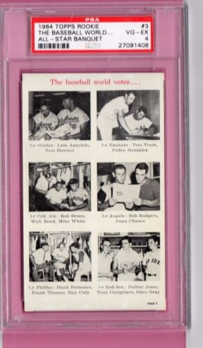 Tony Conigliaro 1964 TOPPS BANQUET Card PSA Rookie Boston Red Sox RC