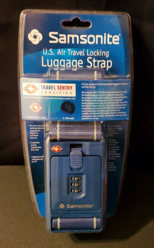 Samsonite 3 Dial Combination Luggage Strap Travel Sentry Certified NEW