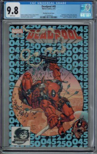CGC 9.8 DEADPOOL #45 AMAZING SPIDER-MAN 300 HOMAGE COVER 2015 LAST ISSUE PHANTOM