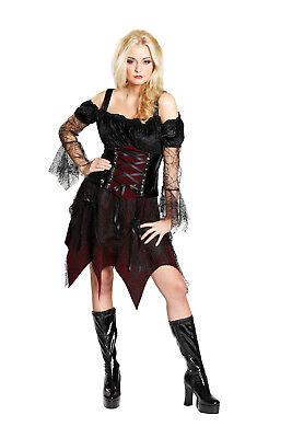 Halloween Damen Kostüm Gothic Queen als Vampir an Karneval