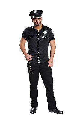 3 tlg.Sexy POLIZEIHEMD Herren schwarz Lackleder Optik Gr. - Sexy Polizei Kostüme Herren