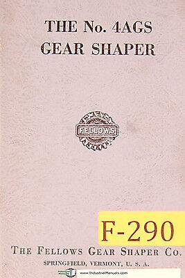 Fellows No. 4ags Gear Shaper Operations Manual Year 1964