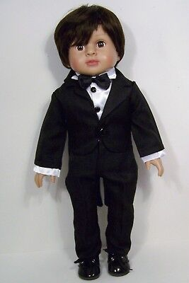 "Tuxedo Suit PANTS SHIRT COAT Doll Clothes For 18"" American Girl Boy Logan (Debs)"