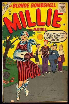 MILLIE THE MODEL #80 MARVEL ATLAS DAN DECARLO GGA 1957 STAN LEE WRITER