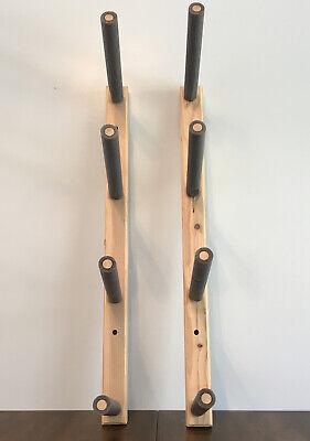 Surfboard Snowboard Skateboard Wall Mount Rack Premium Wood Storage Organize