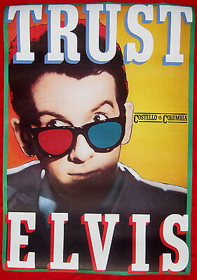 Elvis Costello poster TRUST 1981 MINT & BEAUTIFUL...HUGE GIANT VERSION