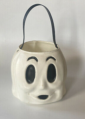 "Vintage hallowedn Ghost Treat Bucket Blowmold Empire 7x8"""
