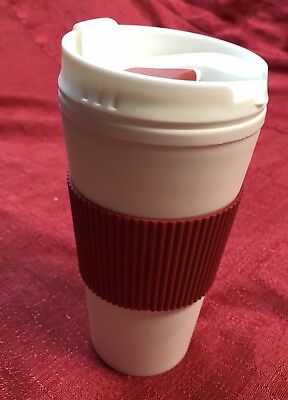 Coffee 16oz Thermal Mug Travel To Go Double Walled W/ Lid Reusable Cup RED