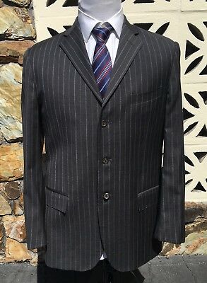 Polo Ralph Lauren Corneliani Two Piece Suit Striped Gray Size 42 L Pants 35 x 32