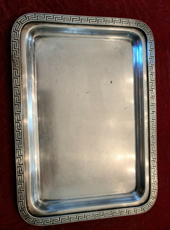 """Hotel, Cafe or Restaurant 7"""" Silver Soldered Tray by R. Wallace"""