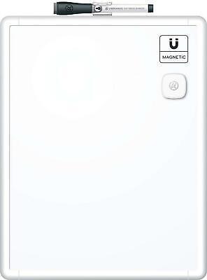 U Brands Contempo Magnetic Dry Erase Board 11 X 14 Inches White Frame