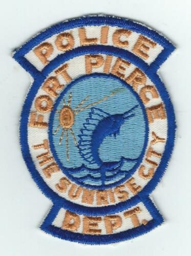 VINTAGE FORT PIERCE, FLORIDA POLICE DEPT. (CHEESE CLOTH BACK) patch