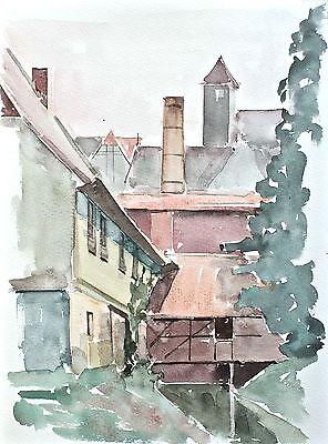 Sonja Wüsten - Quedlinburg - Aquarell - o. J.