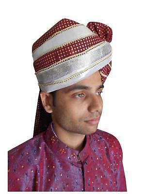 Traditional Indian Men Hat Groom Pagri Handmade Medium Turban Pag Safa Top Hat