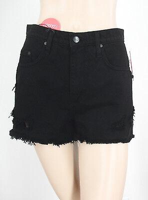 Nobody Horizonte Crudo Shorts Súper Talle Alto Corte Holgado Negro 27 9688...