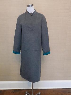JCrew Double Faced Cashmere Popover Coat Tunic 2 $2000 grey SAMPLE jacket dress