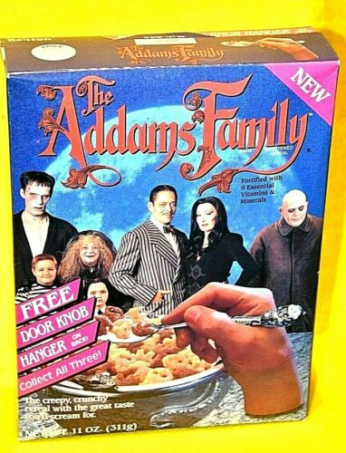 VINTAGE RALSTON THE ADDAMS FAMILY CEREAL BOX WITH CEREAL 1991