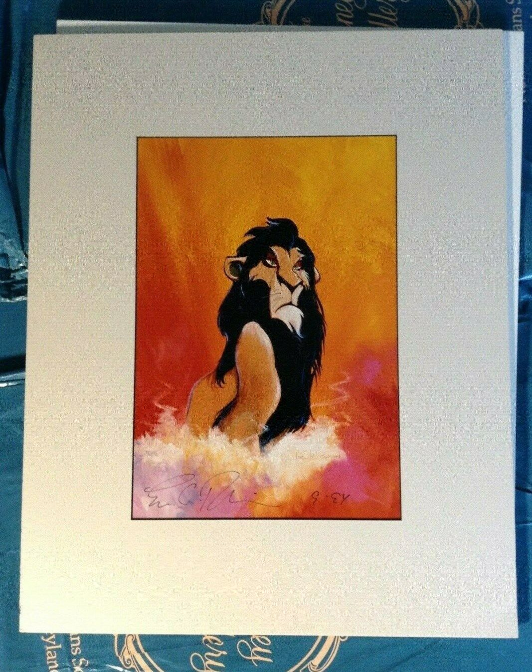 Disney Gallery Beauty and The Beast Signed and Matted Prints Eric Robison set //2