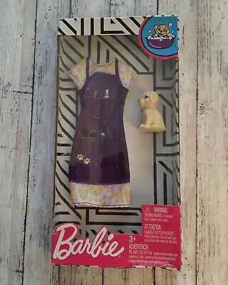 NEW BARBIE DOLL DOG GROOMER DRESS WITH PUPPY DOG 2019 DOLL CLOTHES