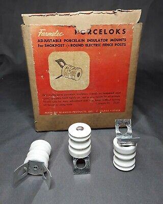 New 25 Forceloks Adjustable Porcelain Electric Fence Insulators For Shokposts