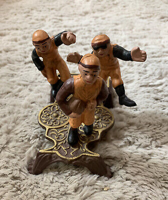 Vintage Reproduction Cast Iron Mechanical Bank - Rugby / Football Coin Bank