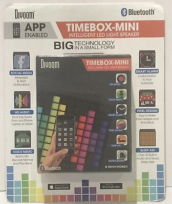 Divoom Timebox Mini Portable Sleep-aid Smart Alarm Clock LED Bluetooth Speaker
