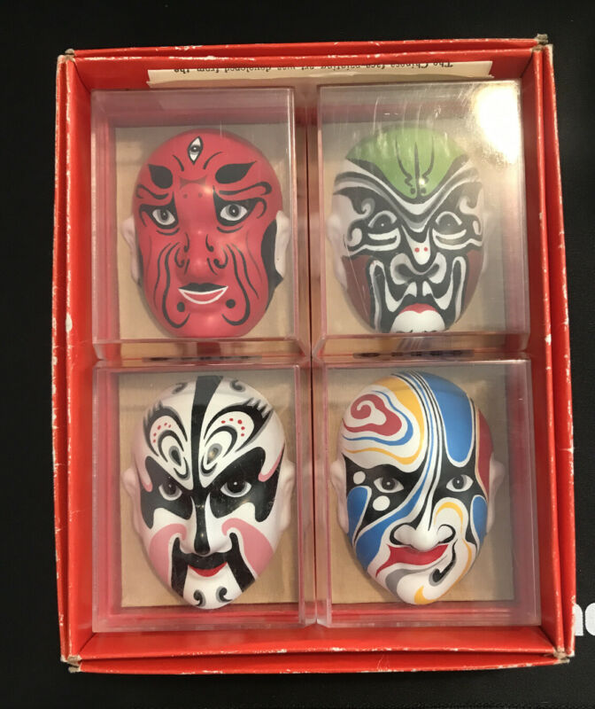 Four (4) different TYPES OF FACIAL IN MAKE-UP CHINESE OPERA ~~ 4 pcs box set