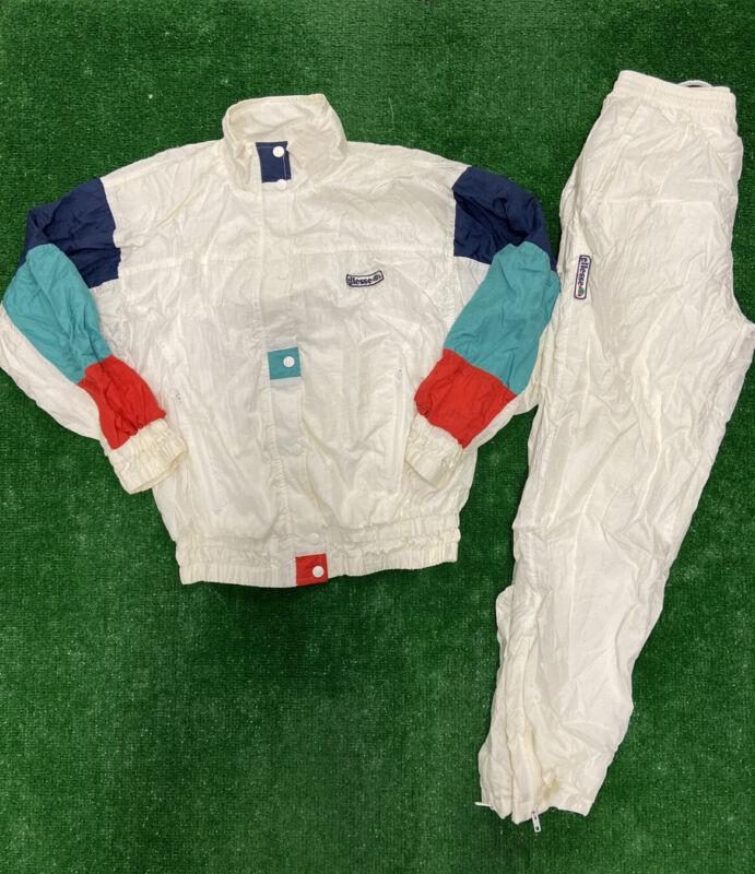 Vintage Ellesse Windbreaker Suit Womens Size P Nylon Track Outfit