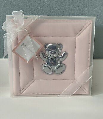 """First Impressions Baby Girl Photo Album Holds 160 4"""" x 6"""" Photos Gift Pink. New!"""