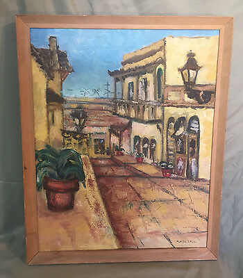 Vintage Landscape Oil Painting Artist Signed Original