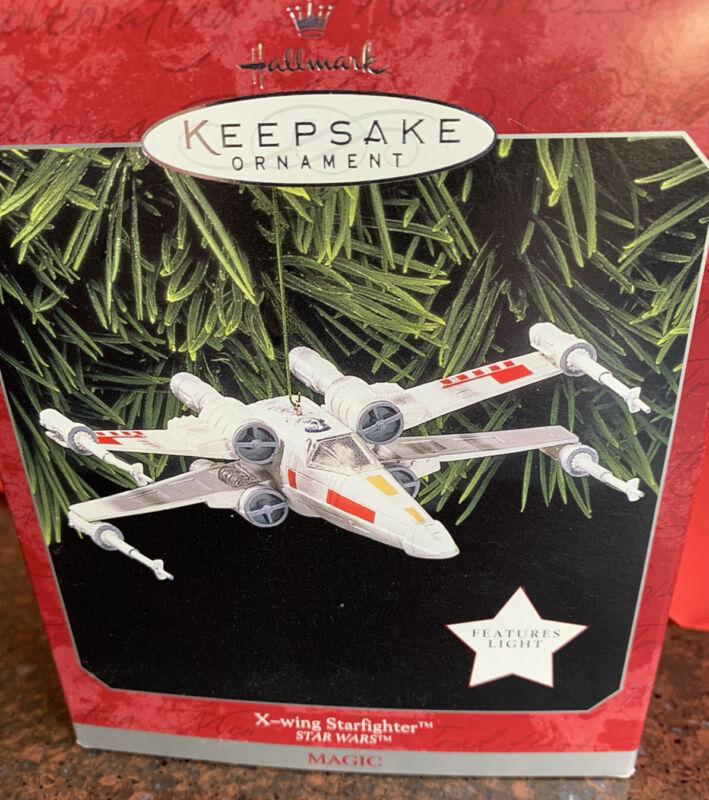 Hallmark Keepsake Ornament Star Wars X-Wing Starfighter 1998 Magic Light