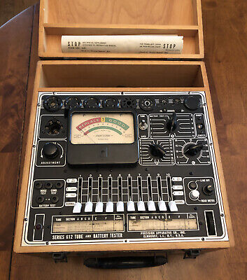 Vintage Precision Electron Tube Tester Model 612 - Excellent Working Condition