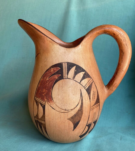 Large Vintage Hopi Indian Pottery Pitcher Early Possibly Nampeyo Rare Form