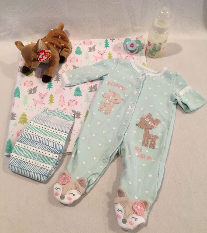 Reborn Baby Doll Deer Sleeper W/pacifier, bottle, & Accs
