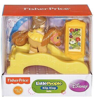 FISHER PRICE Little People Klip Klop BELLE on Horse *NEW* NIB