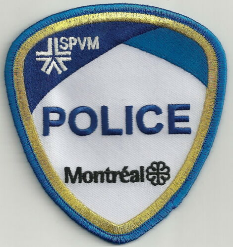 MONTREAL QUEBEC CANADA SPVM POLICE SHOULDER PATCH GOLD BORDER