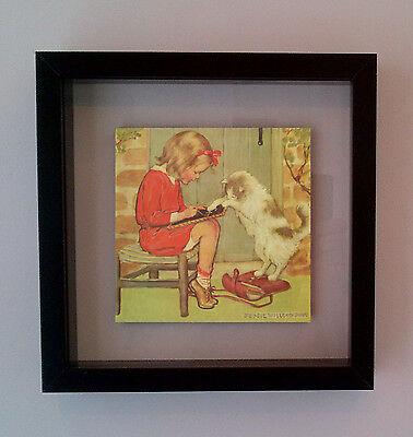 Retro Pop Art Framed Vintage Illustration Ceramic Tile Gift Idea FREE UK P&P