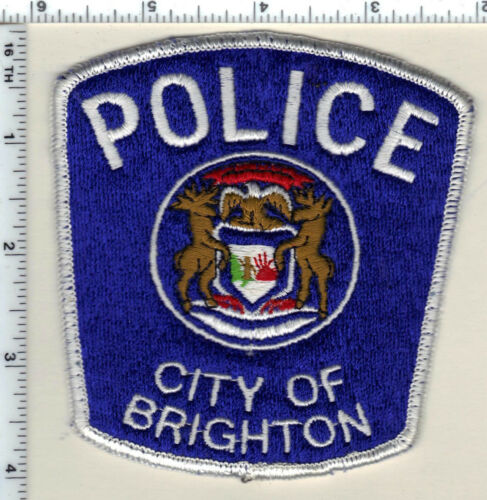 City of Brighton Police (Michigan) Uniform Take-Off Shoulder Patch from 1980