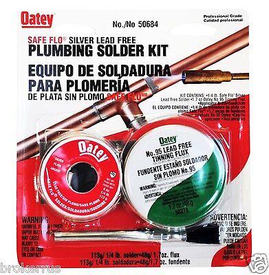 Silver Bearing Lead Free Solder Flux Plumber Plumbing Soldering Kit Oatey50684