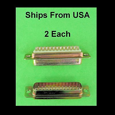 Good Quality Dsub Db25 Panel Mount Male Solder Cup Connector D-sub 25 Pin New