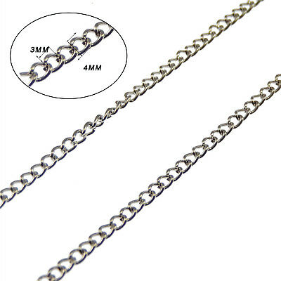 5 Meters/roll O Ring Links Chains Silver Plated Necklace Pendant #53504 ()